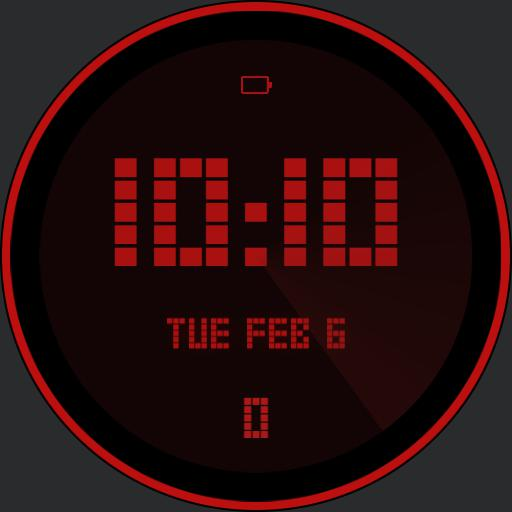Basic red digital watch Copy