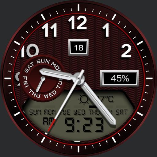 SCARLET Watch Face DIGITAL