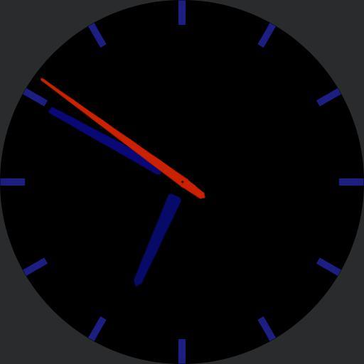 Neon Blue Minimalist