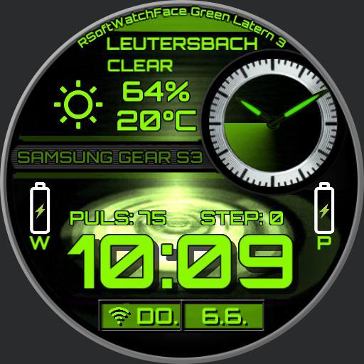 RSoftWatchFace Green Latern 3