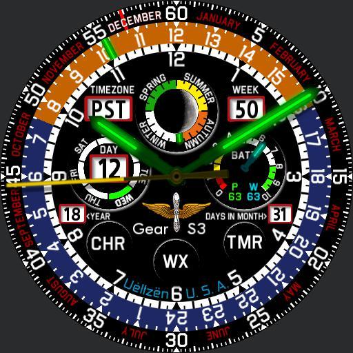 Pilot Calendar Gear S3 Tritium