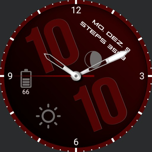 red round clock Copy