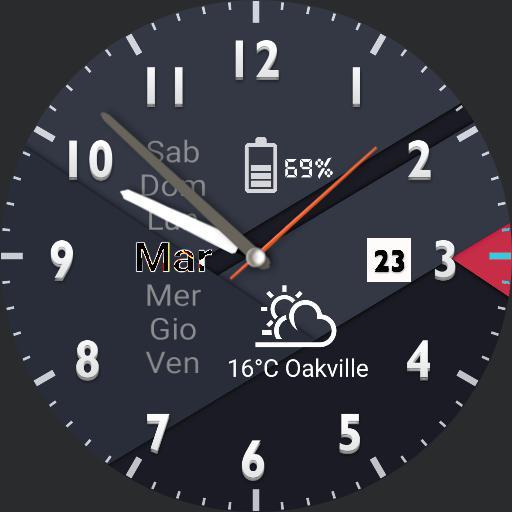 Blu-Palermo watch face