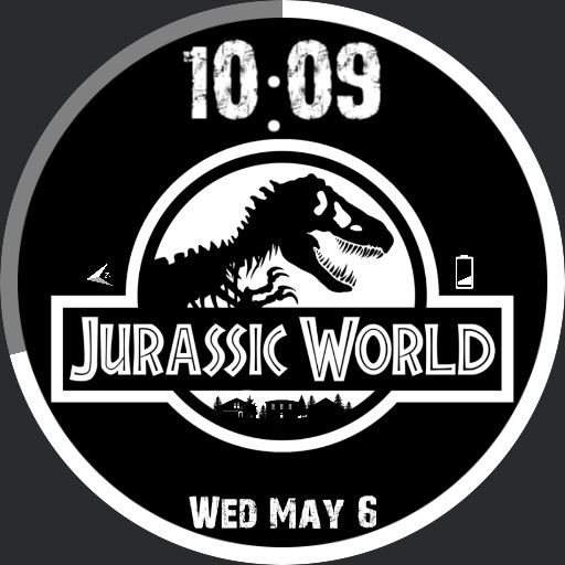 Jurassic World Black and White