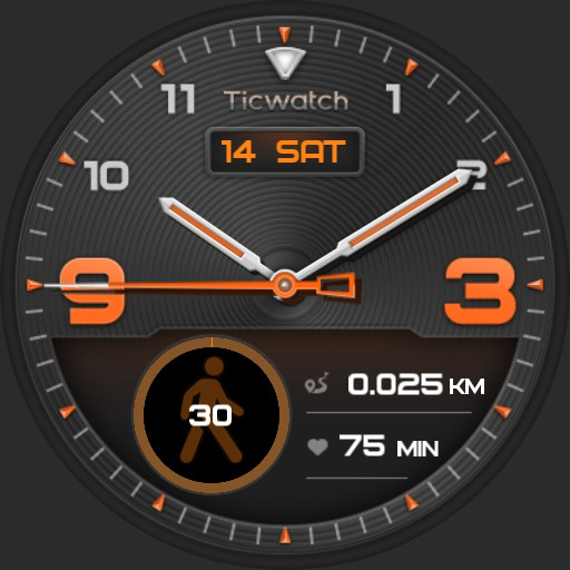 ticwatch orange light