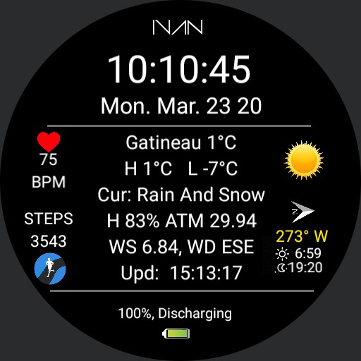 IVAN - Weather Info Dial V 3.1a
