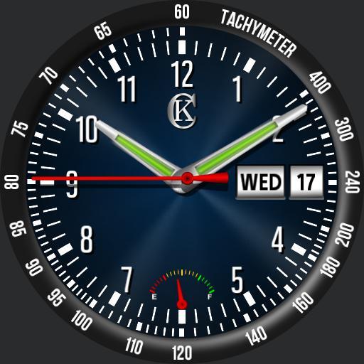 CK Racer watch face  with Tachymeter bezel