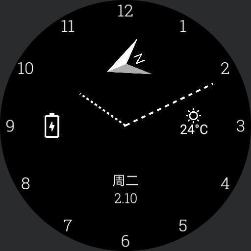 minimalistic analog watchface Copy