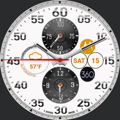 Moto Tachymeter Weather Borderless NoDim