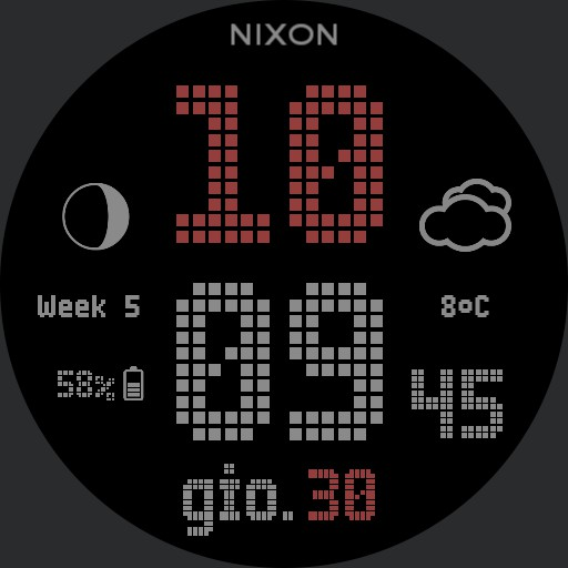 Nixon Newton Digital Custom Red