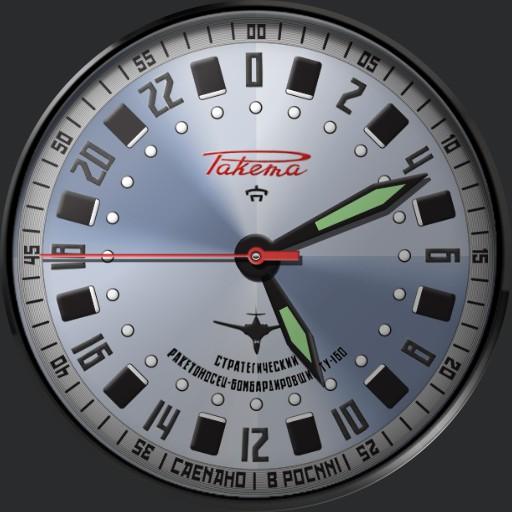 Raketa Tu-160 Pilot 0174  24Hr