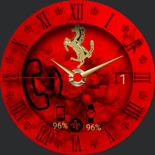 Gold hours red clock