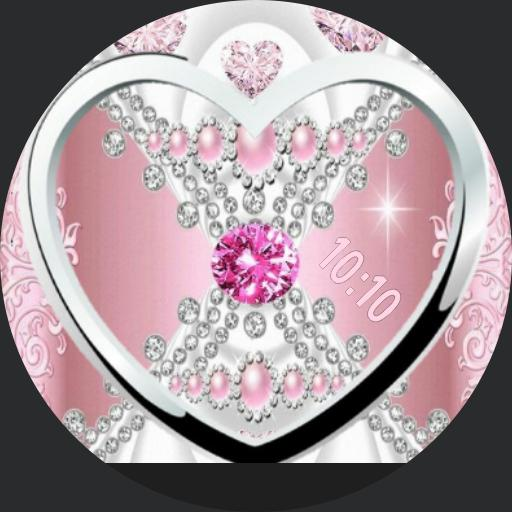 pink heart diamonds