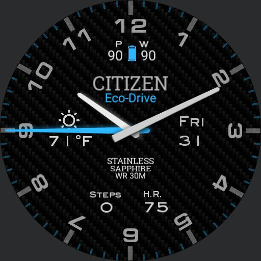 Citizen Blue Glow with Always On Mode