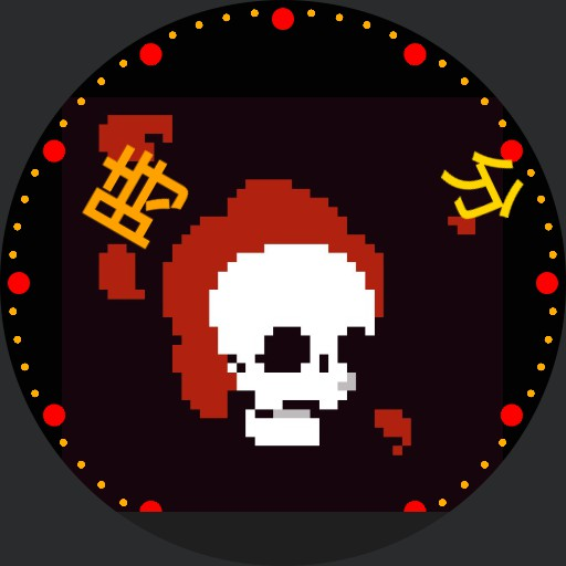 Skull on flames