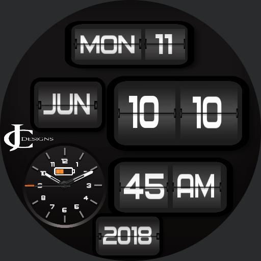 Retro clock Round