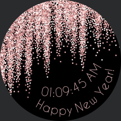 Pink Glitter Happy New Year