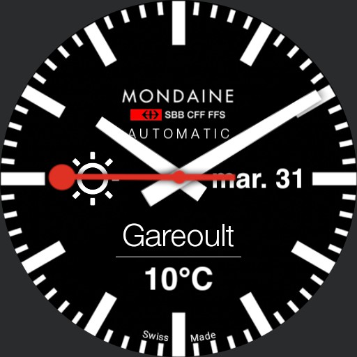 Mondaine Swiss Railway Black weather date