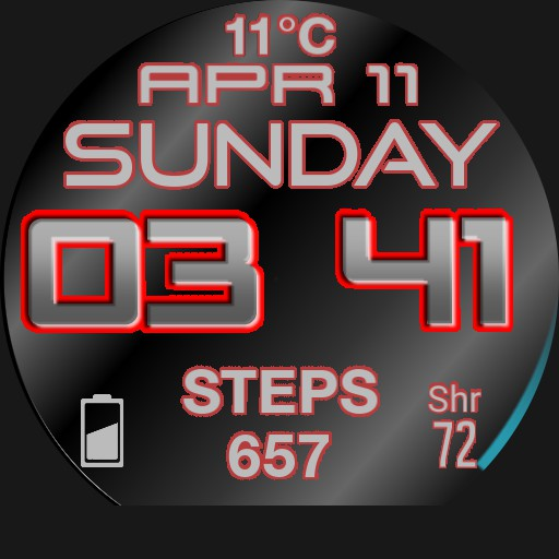 Agenda, Heartrate, Steps, big date and time, weather, reminder. By Dave Engelen. Copy