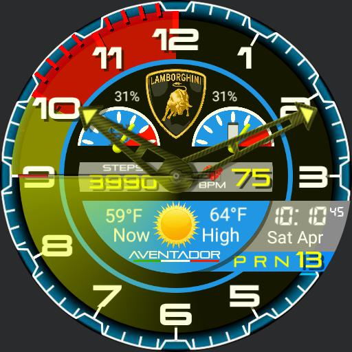 Lamborghini Aventador watch face.