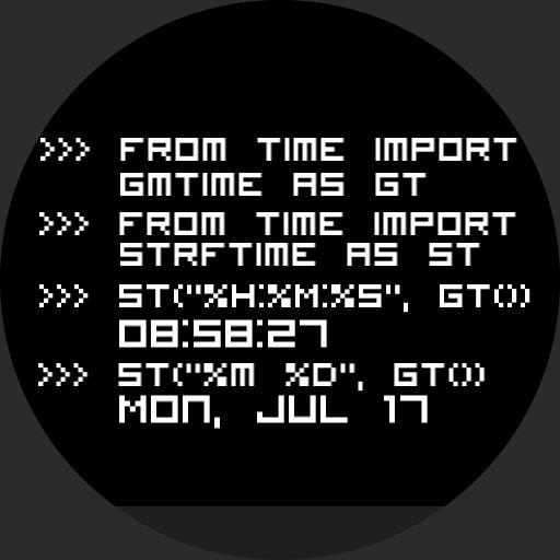 programmatic time - python