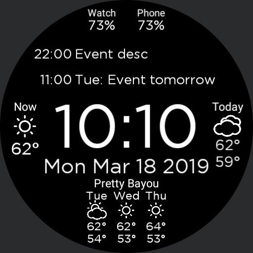 Digital calendar 24 US