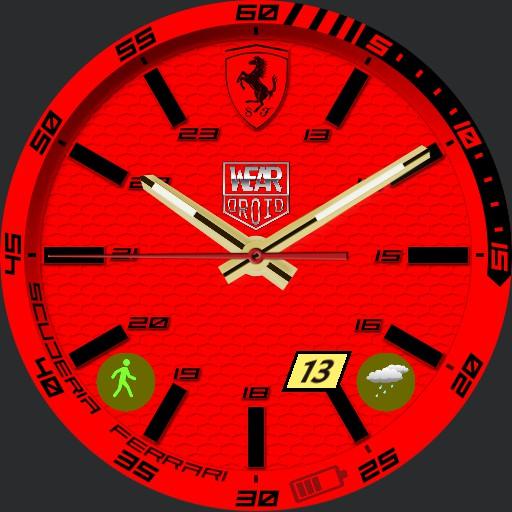 Ferrari Droid Red Nspz_73 Ticwatch C2 a exporter Copy