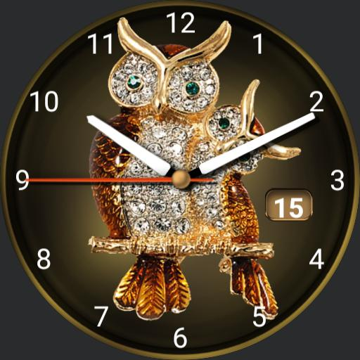 golden brown diamond owl