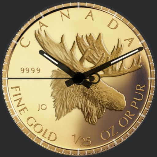 gold moose of canada