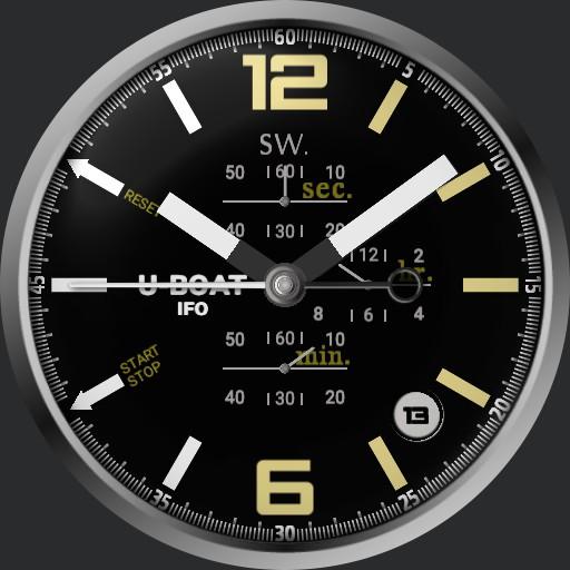 U-Boat IFO full black dial 3  Copy