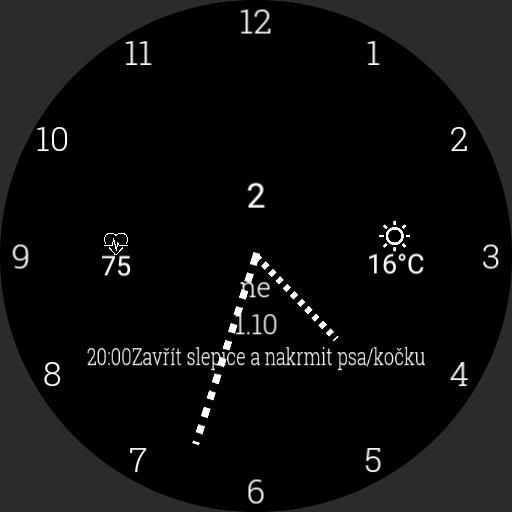 minimalistic analog watchface