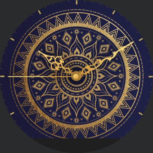 Mandala Gold/Blue