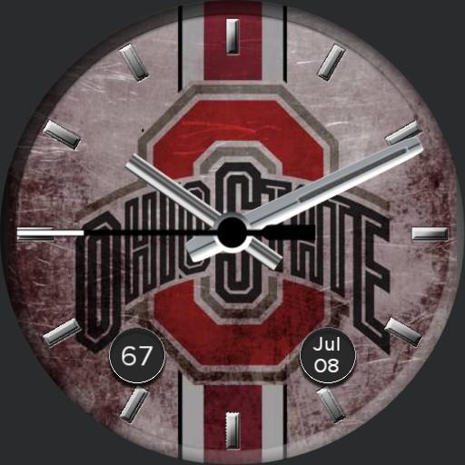 Ohio State Logo with Stripe