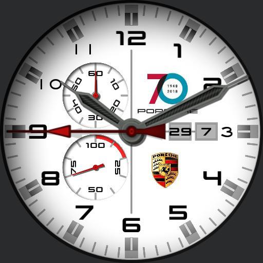 Porsche 70 years Classic white