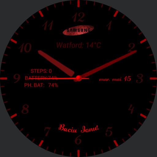 GEAR S3 Classic black  Red