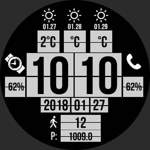 BlackWhite Flip Clock