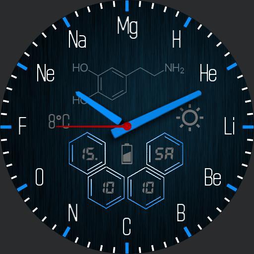 Chemical elements blue simple 2
