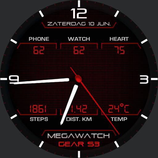MEGAWATCH Analog Red