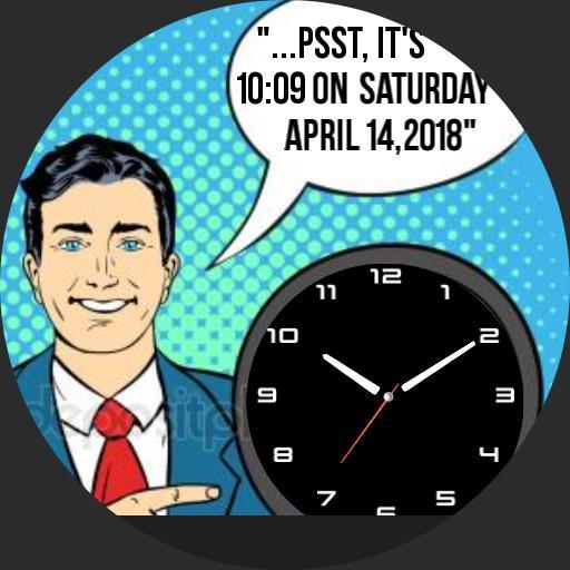 Retro Man Telling Time