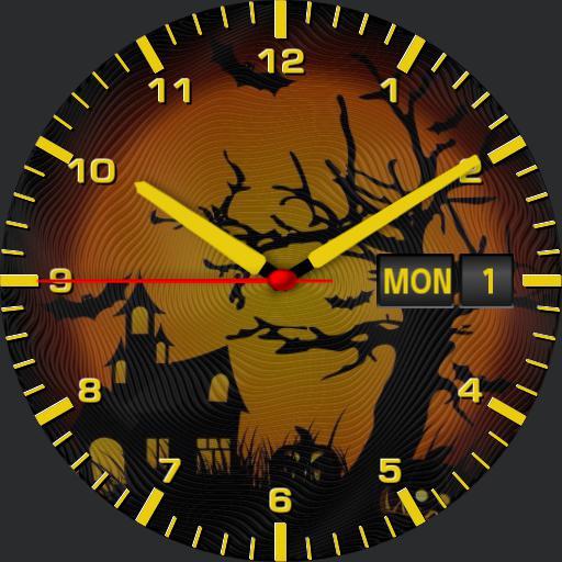 Halloween theme watch face