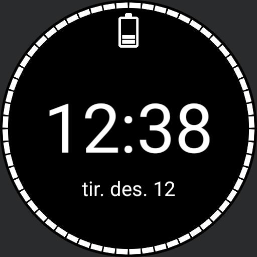 Simple time, date and battery