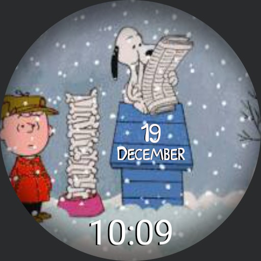 Charlie Brown  and Snoopy celebrate Christmas Copy