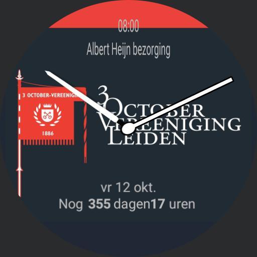 3 October Vereeniging - Leidens Ontzet  - zonder urenstrepen