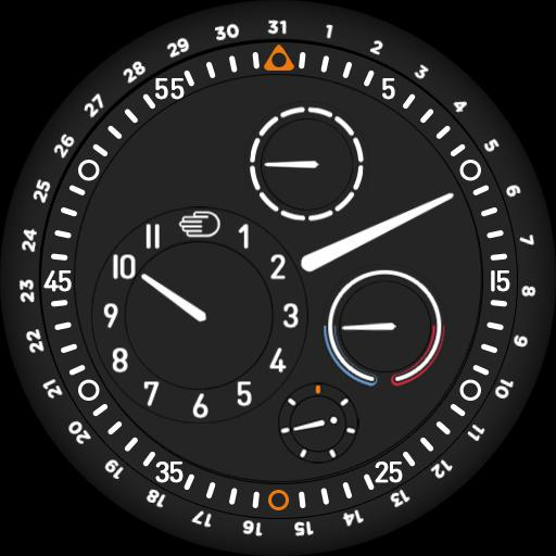 Ressence Type 3 Minutes sunset/sunrise colorswitch