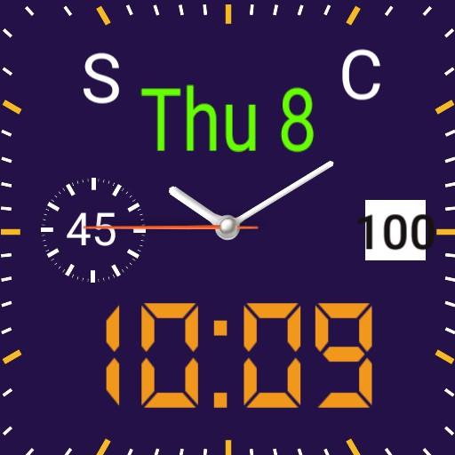 Digital analog purple background  orange   Square  DJ