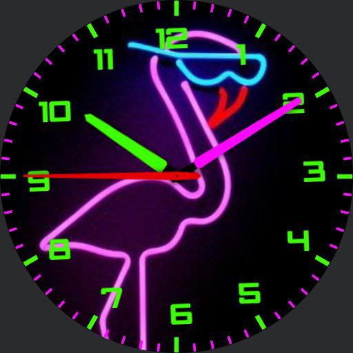 Neon Flamingo 2