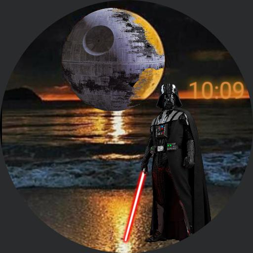 vader at the beach