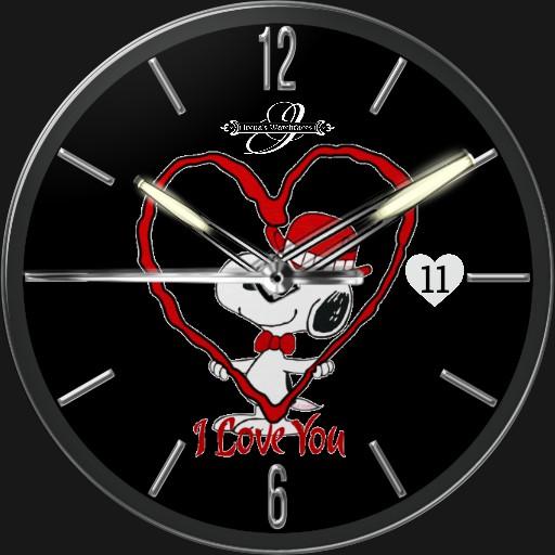 Snoopy Valentinstag 2  3fach Dim Tageszeit