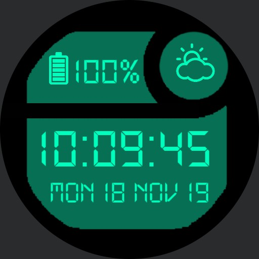 Classic Digital Watch Turquoise