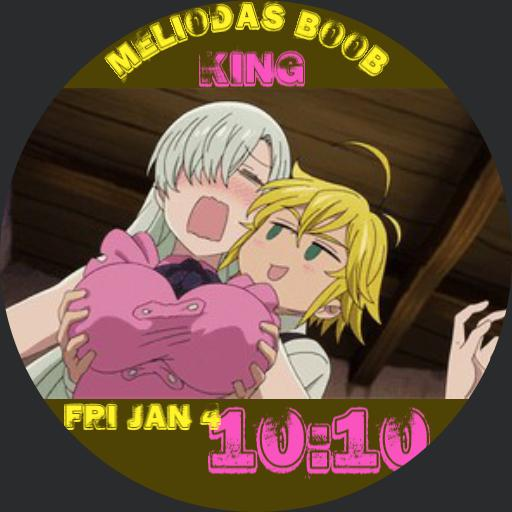 Meliodas being a perv